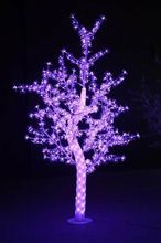 Outdoor Waterproof Artificial 1.5M Led Cherry Blossom Tree Lamp 480LEDs Purple Christmas Tree Light for Home Festival Decoration