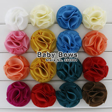 "Babymatch 60pcs/lot 2.1"" Chiffon Flowers For Girls Dresses Decoration Boutique Handmade Frabic Hair Flowers Accessories"