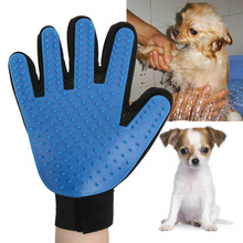 Silicone Pet Brush Glove True Touch Deshedding Gentle Efficient Pet Grooming Dogs Brush Bath Pet Cleaning Supplies For Dog(China)