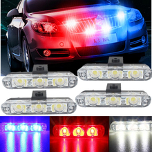 High Power Led Super Bright Wholesale 4x3/led Ambulance Police light Car Truck Emergency Lights DC 12V Strobe Warning light
