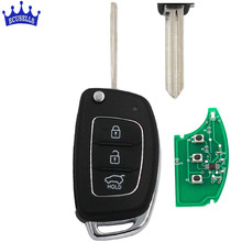 Floding Keyless Remote key Fob 3 Button 434MHz ID46 Chip for Hyundai ELANTRA new Verna(China)