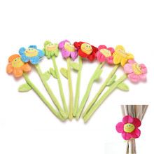Cartoon Curtain Clip Sunflower Plush Flexible Tieback Toy Home Dcor Lovely Girls Gift(China)