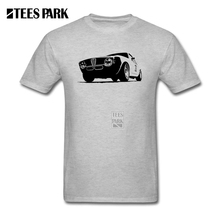 Cool Car T Shirts for Men Vintage Alfa Romeo GTA Racer Clothes Man Round Collar Tees 2017 Tops  Male T-Shirt Creator Male