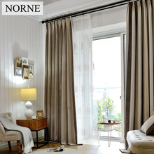 NORNE Striped Heavy Blackout Curtain 80% Shading Rate,Thermal Insulated Privacy Assured Curtains Window for Bedroom Living Room