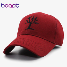 [boapt] tree of life pattern embroidery women's baseball caps men hats casual summer brand female cap snapback cotton dad hat(China)