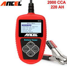 12V Car Battery Tester Ancel BA101 Digital Analyzer 12 Volt Automotive Vehicle Battery Analyzer 100-2000CCA 220Ah Scanner Tools(China)