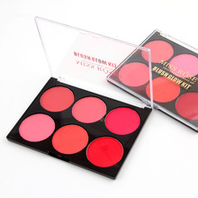 Professional Blusher Brand Make Up Waterproof Mineral Powder Pigment Pink Nude Face Contour Miss Rose Brand Makeup Blush Palette(China)