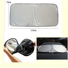 Auto Car Sunshade Sun Shade Curtain Front Rear Window Film Windshield Visor Foldable Cover UV Protect Reflector 150*70cm Styling