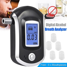 New Digital LCD Police Breathalyzer Breath Test Alcohol Tester Analyzer Detector Dec20(China)