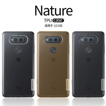 sFor LG V20 Case 5.7 inch Nillkin Nature Series Transparent Clear Soft TPU Case for LG V20 with Retail Packaging(China)