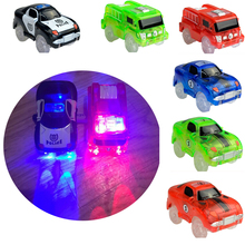 Glow track Spare parts DIY LED Light Up Car Toys Glowing Racing Track Set Electronics Glow Car Flashing Lights Cave bridge cross(China)