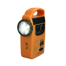 dynamo radio Solar Powered Wind Up Rechargeable Radio Emergency LED Flashlight AM/FM Receiver