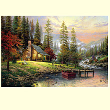 Free shipping 1000pcs paper puzzle landscape jigsaw,education and learning,great painting picture,gift for friends kids children