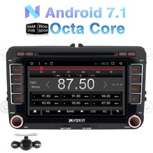 Pumpkin 2 Din Android 7.1 Car DVD Player For VW/Skoda/Seat/Golf GPS Navigation Bluetooth Car Stereo Wifi FM Rds Radio Headunit(China)
