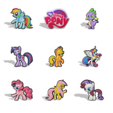 New 9pcs/lot of Pony Cartoon Magnet Refrigerator stickers School Kid Party Gift toy