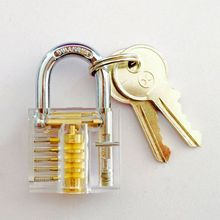 Padlocks Lock Crystal Cutaway Training Skill Pick Lock For Beginners Locksmith Two Keys Locksmith Practice Set