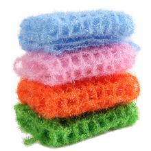 Mesh Polyester Yarn Multi-purpose Dish Wash Towels Strong Detergency Non-stick Oil Kitchen Cleaning Cloths Scouring Pads 6PCS
