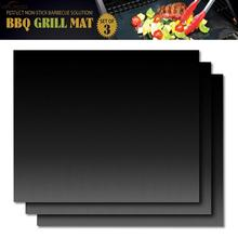 2+1pcs Barbecue Grill Mat Non-stick BBQ Grill Mats Baking Liner0.2mm Thick Ptfe Cooking Microwave Oven Pad Reusable Teflon Sheet
