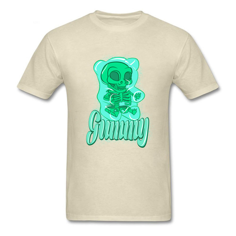 gummy bear Casual Summer Autumn 100% Cotton Round Neck Men Tees Design Tee-Shirt 2018 Discount Short Sleeve Top T-shirts gummy bear beige