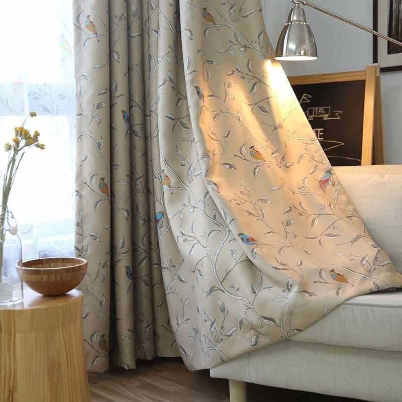 Bird Blackout Curtains For Bedroom Blinds Rolling Windows Curtains For Kitchen Living Room Fabric For Curtains Cortinas Jalousie