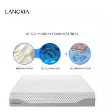 LANGRIA 10-Inch Modern Triple Layer Cool Gel Sleep Bed Memory Foam Mattress Eco-friendly Healthy Mattress Twin Full Queen Size(China)