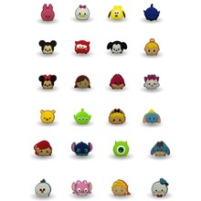 50pcs Tsum Tsum Cartoon Icon Figure Brooch Pin badges PVC Button Pinbacks Pin Badge Backpack Clothes Hat Decoration Kids gift(China)