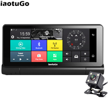 "iaotuGo 6.86"" Android GPS DVR Navigator Android 5.0 4G SIM Slot 1280*480 Bluetooth Wifi AVIN Dual Camera Recorder 1080P(China)"