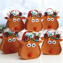 6 Pcs/lot New Christmas Gift Bags Merry Christmas Candy Bags Christmas Santa Claus Xmas Gifts Holders Party Decoration Deer Bag(China)