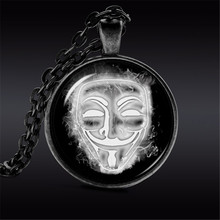 Mask Jewelry Guy Fawkes Day Statement Necklace Alloy Mask Necklace Bonfire Night(China)