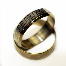 Vintage Gold Color 316L stainless steel Ring Mens Jewelry for Men lord Wedding Band male ring for lovers