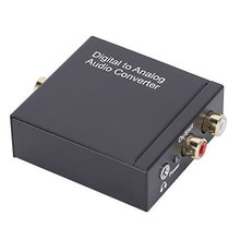 MAHA DAC Converter with 3.5mm Audio Digital Audio Output Analog - Digital Signal in Converts Analog Signal Black