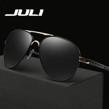 JULI Hot Selling Alloy Polarized Police Driving Sunglasses For Men Glasses Brand Designer with High Quality Oculos Male Eyewear