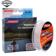 100M PRO BEROS Brand Series Fly Line 20LB/30LB Yellow/Red Color Fly Backing Line 8 Weaves