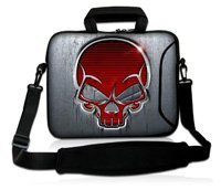 "Red Skull 10"" Laptop Shoulder Sleeve Carry Bag Case W/ Handle For Apple iPad 2 3G / Wifi(China)"