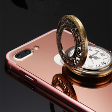 Buy  (5.5 4.7 size) Cover Apple iPhone 7 Plus Metal Bumper Case Aluminum Frame Mirror + Acrylic Plastic Back Cases iPhone7 for $4.74 in AliExpress store