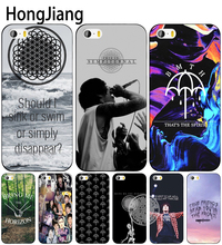 HongJiang Sykes Bring Me the Horizon bmth cell phone Cover case for iphone 6 4 4s 5 5s SE 5c 6 6s 7 8 plus case for iphone 7 X(China)