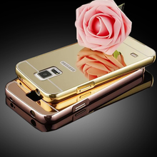 For Galaxy S5 High Quality Metal Aluminum Case + Acrylic luxury Mirror Battery Back Cover Phone Case For Samsung Galaxy S5 i9600