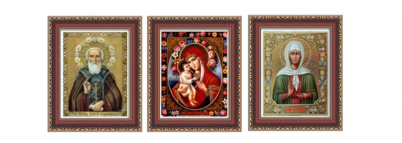 RUBOS Icon Our Lady Zhirovitskaya Diamond Mosaic Religion DIY 5D Diamond Embroidery Classic Craft Series Partial Bead Orthodox