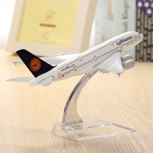 WH A380 Lufthansa Airplane Aircraft Model 16cm Airline Aeroplan Diecast Model Collection Decor Gift Toys For Children