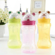 Quality Lovely Animal Outdoor Water Bottles Portable Sports Cycling Camping PP Plastic Kids Water Bottle 380ml(China)