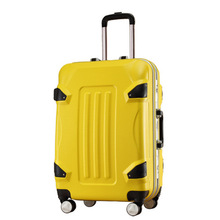 Fashion 20in 24in Girl Trolley Case ABS Students Lovely Travel Waterproof Luggage Rolling Suitcase Extension Boarding Box LGX10(China)