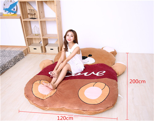 Fancytrader 2018 Giant Plush Stuffed Cartoon Love Bear Sofa Bed Sleeping Bed with Padding 2 Sizes (8)