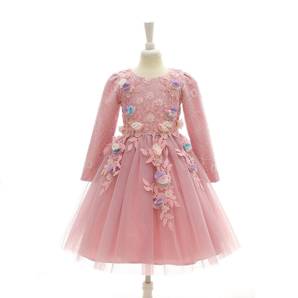 2017 High-end Flower Girls Dresses For Wedding Embroidered Formal Princess Girl Birthday Party Dress Kids Vestido 3-12Y<br>