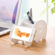 Modern Style Mobile Phone Watch Holder Simple White Portable Phones Fixed Holder Detachable Debris Storage Racks Fashion Design