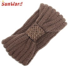 SunWard New Fashion Women Fashion Sequins Knitting Wool Headbands Warm Hairband Head Wrap 160914 Drop Shipping