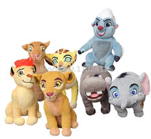 The Lion King Lion Guard Plush Figure Toy Kion Bunga Fuli Kiara Nala Hippo Beshte Elephant Stuffed Animal Kids Toys for Children