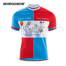 2017 Men Style funny Cartoon Red Blue Cycling Jersey new Short Sleeve Clothing Clothing Riding Bike Wear Classic Team Clothing