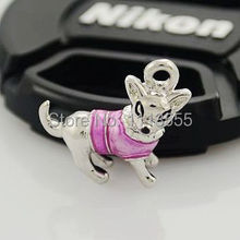 C917  hot sale fashion zinc alloy silver  DIY Pink Puppy  thomas charms  for  20pcs/lot Matching necklace and bracelet