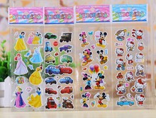 200sheets Cars Cute Puffy Sticker Kids 3D Cartoon Toys for children puffy Stickers Pattern bubble stickers