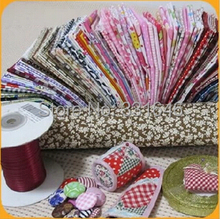 Free ship 50PCS/LOT 20*20cm small Plain cotton fabric fat quarter bundle set tilda sewing cloth home textile patchwork quilting